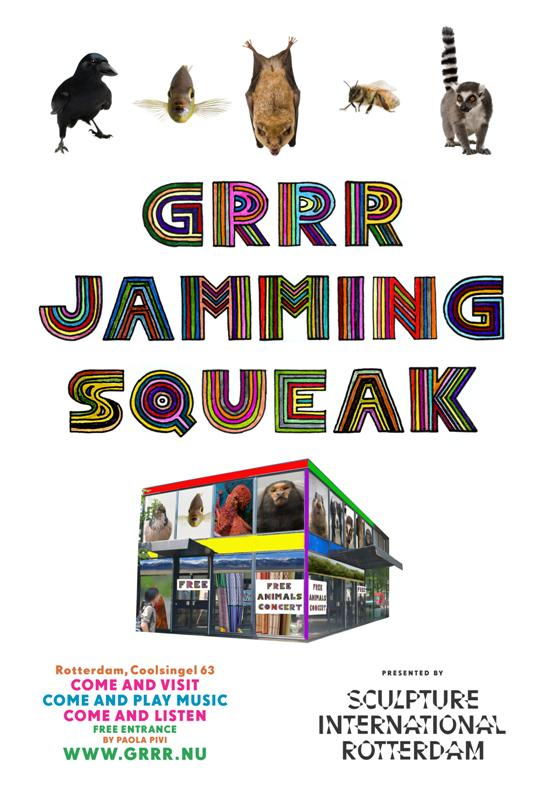 Poster Grrr Jamming Squeak, photography: Vincent J. Musi