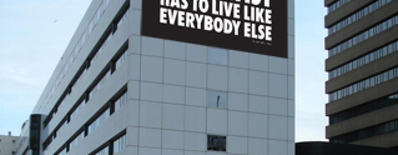The artist has to live like everybody else